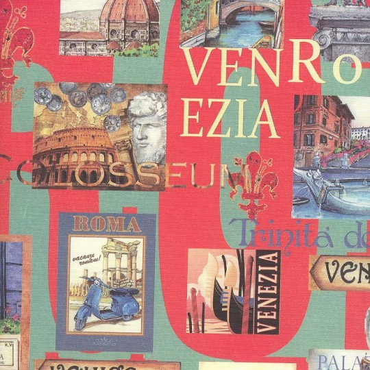 Italian Cities Collage Print Paper ~ Italy