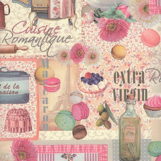 Pink Kitchen Collage Print Paper ~ Italy