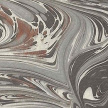 Grey Swirl Hand Marbled Paper ~ Rossi Italy