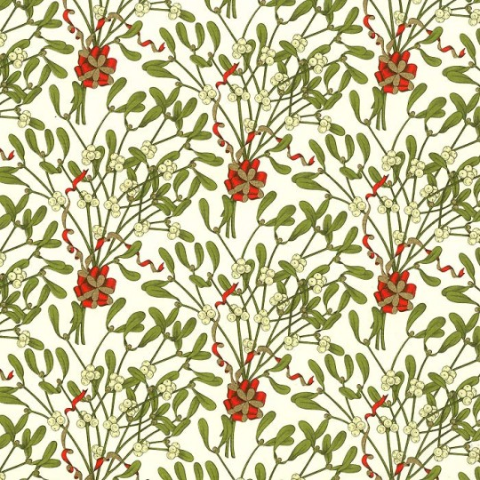 Mistletoe Florentine Holiday Print Paper ~ Rossi Italy