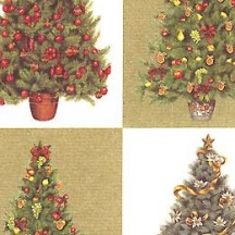 Christmas Trees Florentine Holiday Print Paper ~ Rossi Italy