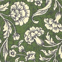 Green Chrysanthemums Floral Print Paper ~ Rossi Italy