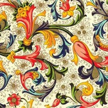 Traditional Floral Florentine Print Paper ~ Rossi Italy