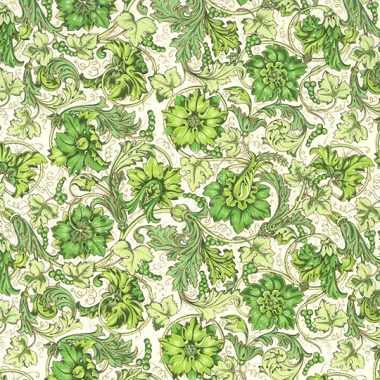 Green Grapes Florentine Print Paper ~ Rossi Italy