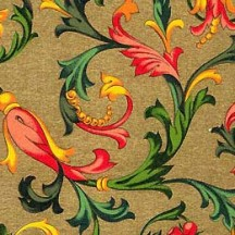Golden Floral Florentine Print Paper ~ Rossi Italy