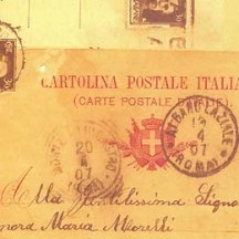 Vintage Postcard Print Italian Paper ~ Rossi Italy