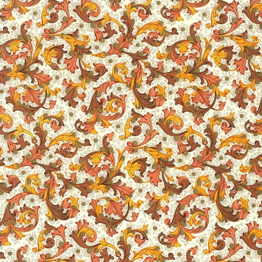 Traditional Florentine Print Paper in Browns ~ Rossi Italy
