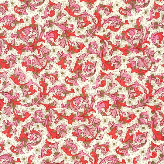 Traditional Florentine Print Paper in Reds ~ Rossi Italy