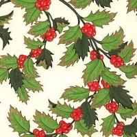 Holly Berry Florentine Holiday Print Paper ~ Rossi Italy