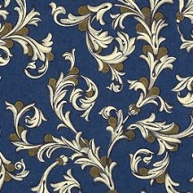 Traditional Florentine Print Paper in Midnight Blue ~ Rossi Italy