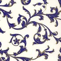 Traditional Italian Florentine Print Paper ~ Dark Blue on Off White ~ Rossi Italy