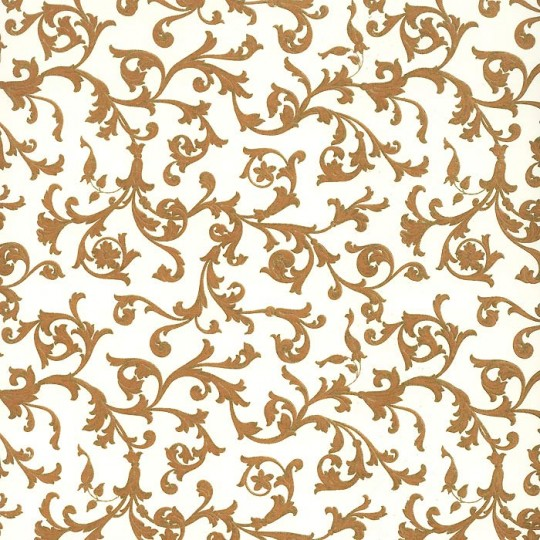 Traditional Italian Florentine Print Paper ~ Brown on Off White ~ Rossi Italy