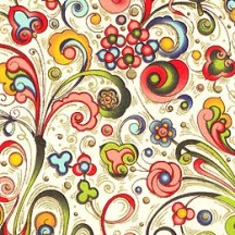Multi-Colored Swirlled Floral Florentine Print Paper ~ Rossi Italy ~ 2013