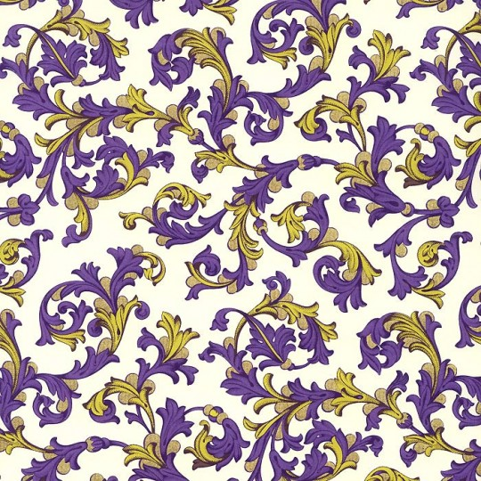 Purple and Gold Traditional Florentine Print Paper ~ Rossi Italy ~ 2013