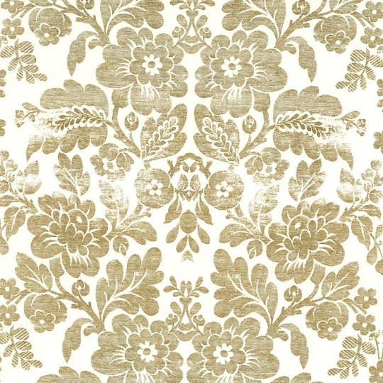 Distressed Metallic Gold Brocade Print Paper ~ Rossi Italy ~ 2013