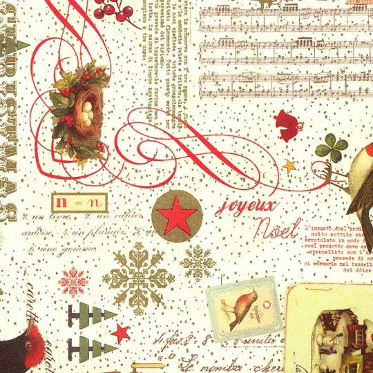 Beautiful Christmas Collage Italian Paper ~ Rossi Italy