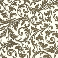 Brown and Gold Traditional Florentine Print Paper ~ Rossi Italy ~ Letterpress