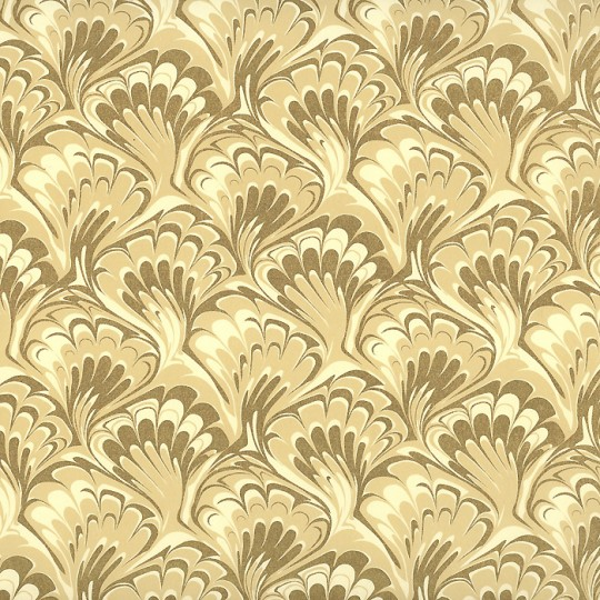 Cream and Gold Marbelized Print Paper ~ Rossi Italy ~ 2014