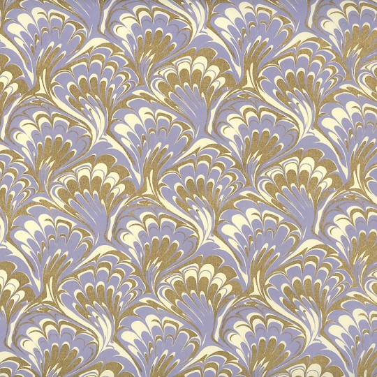Lavender and Gold Marbelized Print Paper ~ Rossi Italy ~ 2014