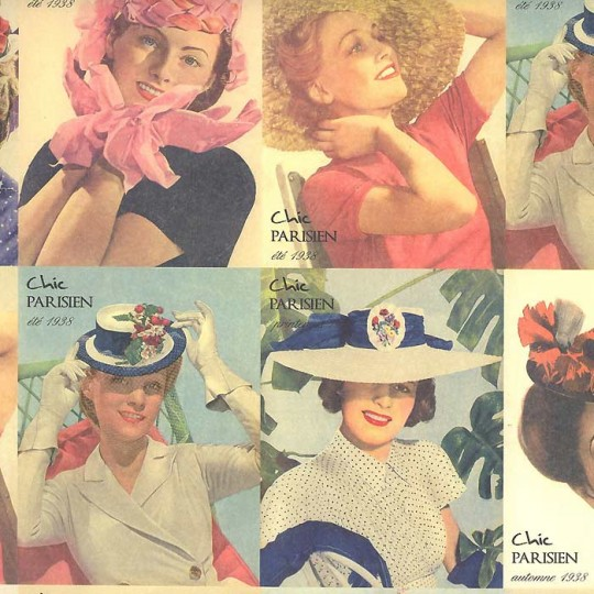 Chic Parisiene Ladies in Hats Italian Paper ~ Rossi Italy ~ 2014