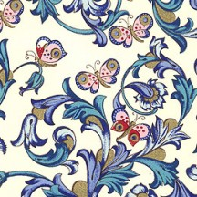 Blue Butterlfy Florentine Print Paper ~ Rossi Italy ~ 2015