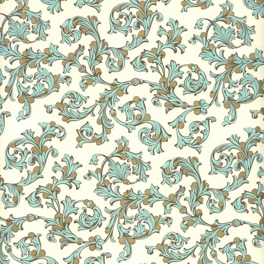 Light Blue and Gold Florentine Print Paper ~ Rossi Italy ~ 2015