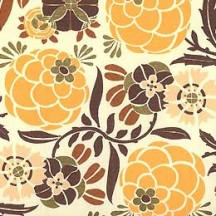 Yellow Tones Stylized Floral Print Paper ~ Rossi Italy