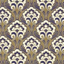 Blue and Golden Flourish Florentine Print Paper ~ Rossi Italy