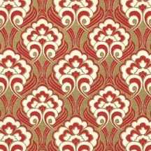 Red and Golden Flourish Florentine Print Paper ~ Rossi Italy