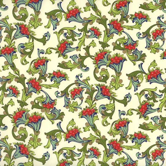 Red Cherry Florentine Print Paper ~ Rossi Italy