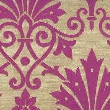 Magenta and Metallic Gold Brocade Print Paper ~ Rossi Italy