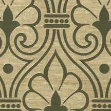 Olive and Metallic Gold Brocade Print Paper ~ Rossi Italy
