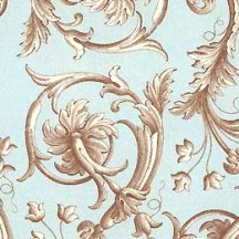 Traditional Light Blue Italian Florentine Print Paper ~ Rossi Italy