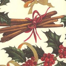 Holly and Cinnamon Florentine Christmas Print Paper ~ Rossi Italy