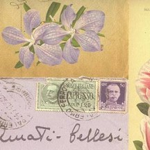 Vintage Letters and Flower Print Italian Paper ~ Rossi Italy