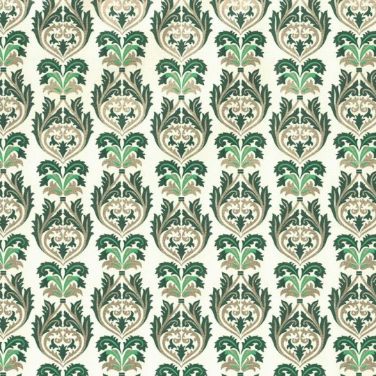 Green and Gold Flourish Leaf Print Paper ~ Rossi Italy