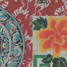 Elaborate Silver Chinoiserie Print Paper ~ Rossi Italy