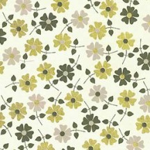 Petite Daisies Floral Print Paper ~ Rossi Italy ~ Grey + Gold Mix