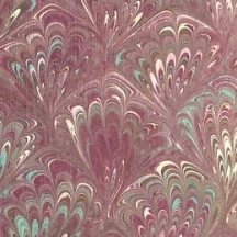 Plum Feathers Hand Marbeled Paper ~ Rossi Italy