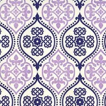 Lavender and Blue Tiled Paper ~ Rossi Italy ~ Letterpress