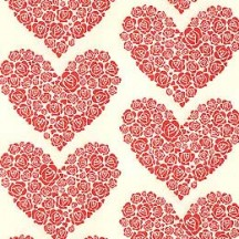 Red Rose Heart Paper ~ Rossi Italy ~ Letterpress