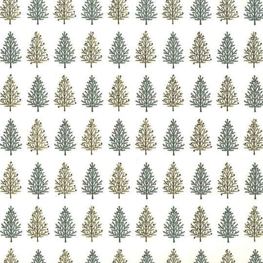 Green and Metallic Gold Christmas Tree Paper ~ Rossi Italy ~ Letterpress