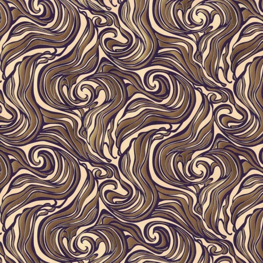 Cream and Gold Swirl ~ Rossi Italy ~ Letterpress