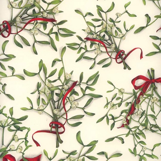 Mistletoe and Ribbons Christmas Paper ~ Tassotti Italy