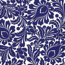 Blue Floral Italian Paper ~ Tassotti Italy