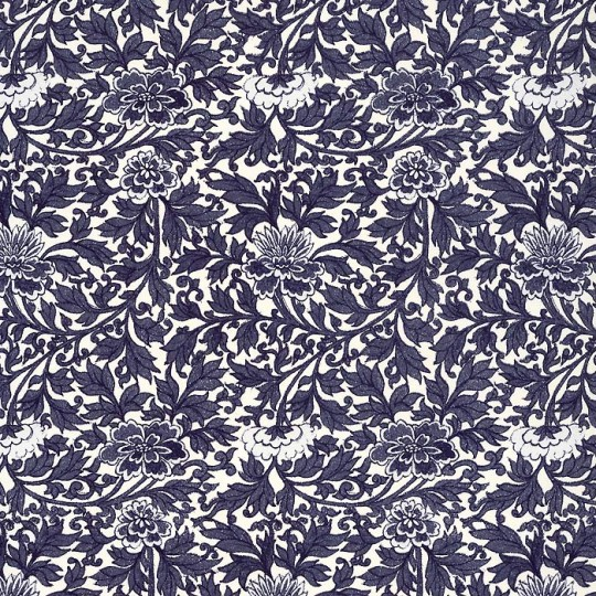 Blue Mixed Floral Italian Paper ~ Tassotti Italy