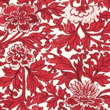 Red Mixed Floral Italian Paper ~ Tassotti