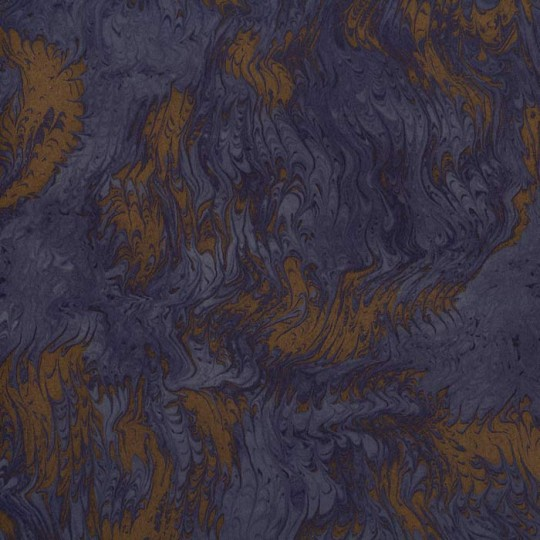 Midnight Blue & Gold Marbelized Print Italian Paper ~ Tassotti