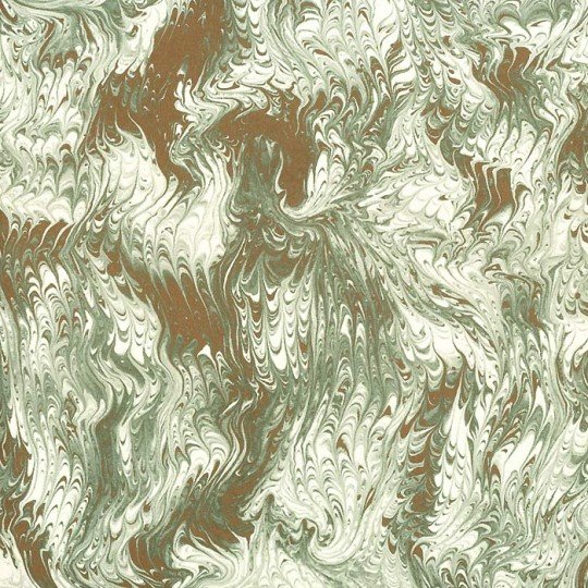 Ivory, Light Green & Gold Marbelized Print Italian Paper ~ Tassotti