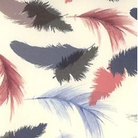 Muted Feathers Florentine Print Paper ~ Tassotti Italy